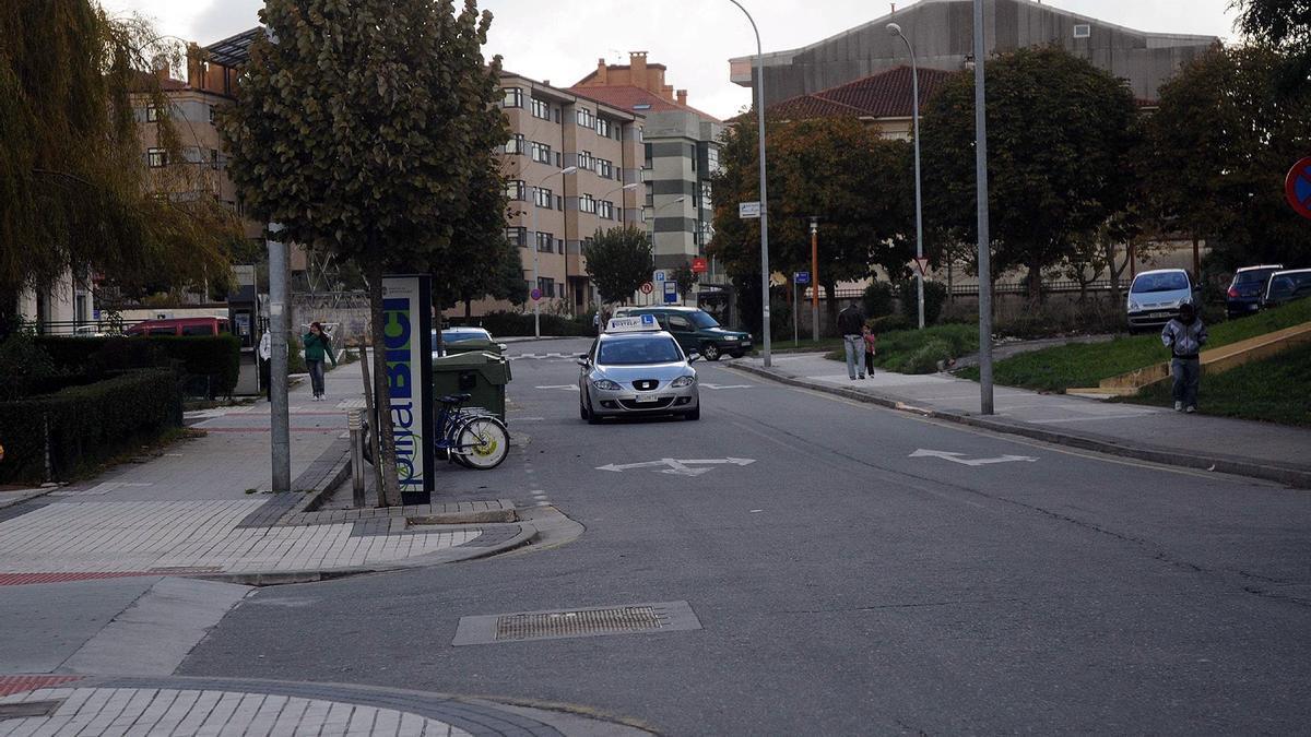 Una vista de la calle Alemania de Monte Porreiro