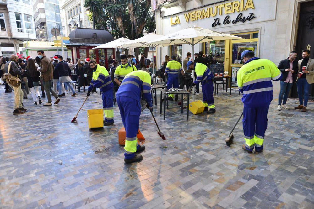 Tardebuena en Cartagena y desalojo de los bares