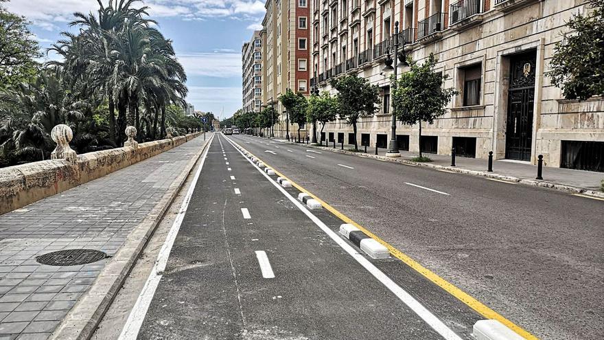 Abierto el nuevo carril bici en el paseo de la Ciudadela