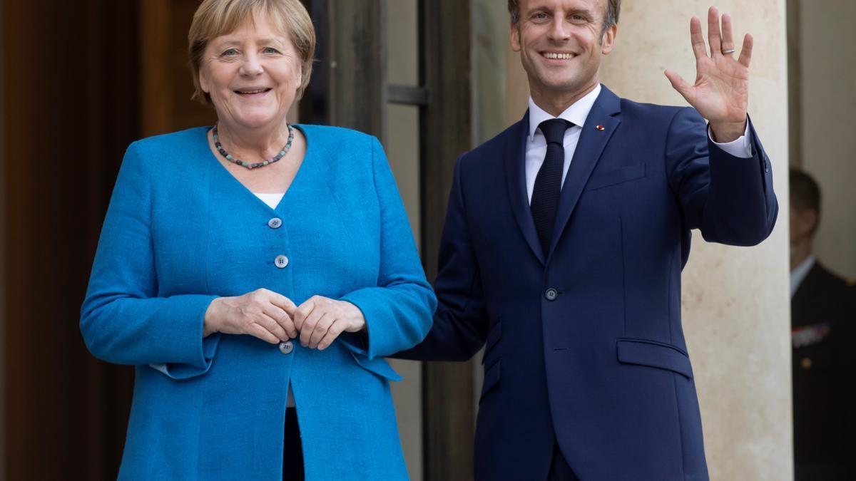 Merkel y Macron se reunieron este jueves en el Elíseo.