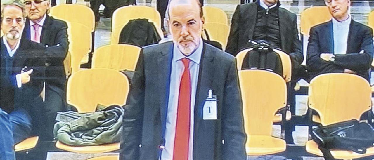 José Carceller, ayer en la Audiencia Nacional.