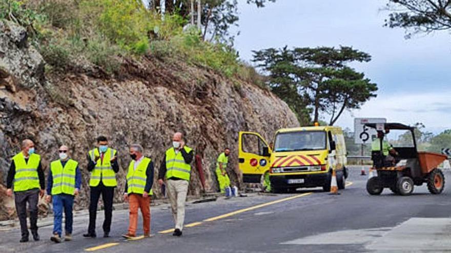 El Cabildo otorga otro mes de plazo a las obras de la carretera de Teror