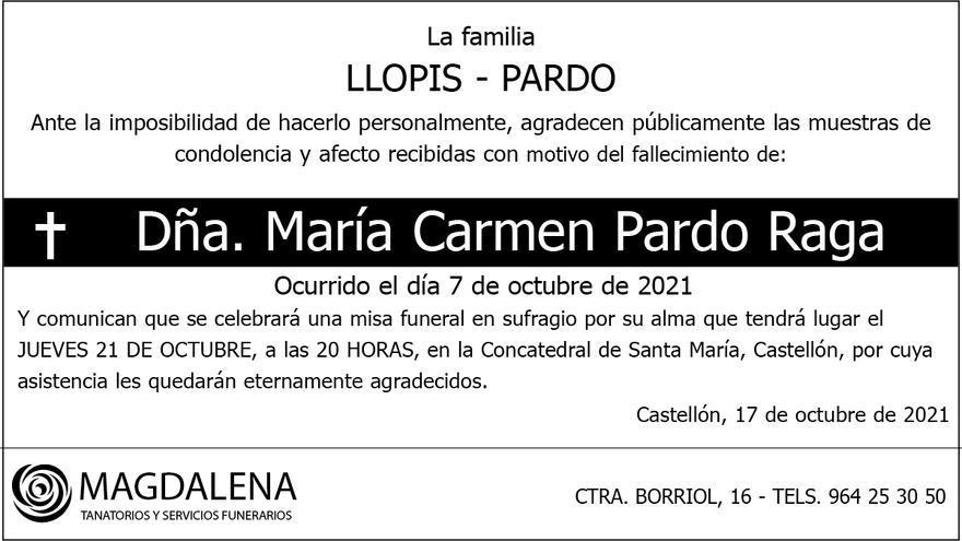 Dña. María Carmen Pardo Raga