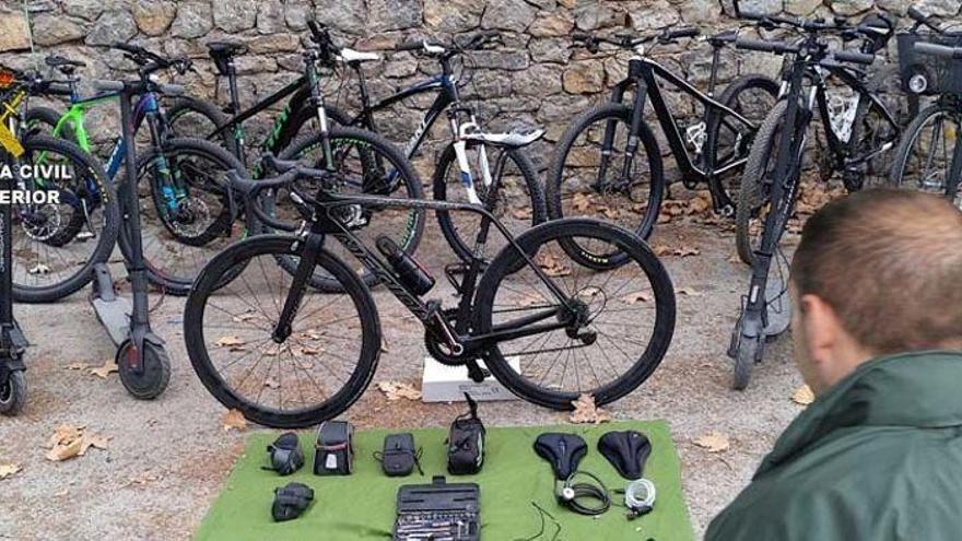 Detenido por robar 80 bicicletas por valor de 85.000 euros en Mallorca
