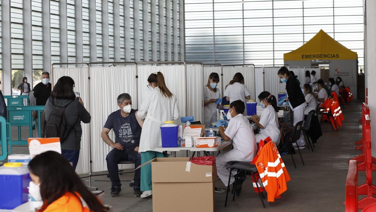Vacunación contra el COVID en Zamora.
