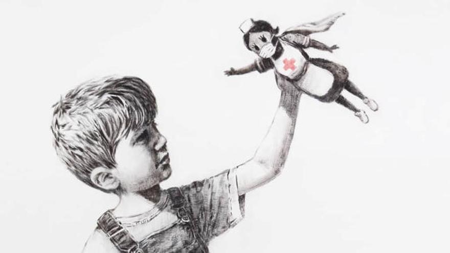 El brillante homenaje de Banksy a los sanitarios