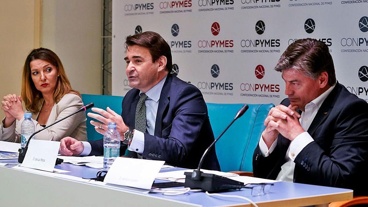 La presentació de la nova patronal Conpymes, ahir a Madrid.  | EUROPA PRESS