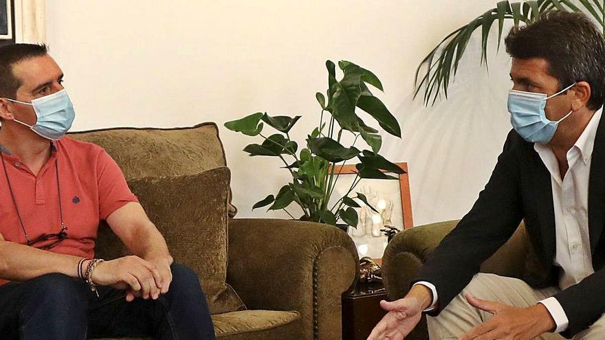 Mazón «ficha» al climatólogo Jorge Olcina para crear la Red Meteorológica provincial