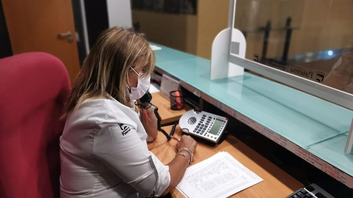 Una trabajadora de un hotel.
