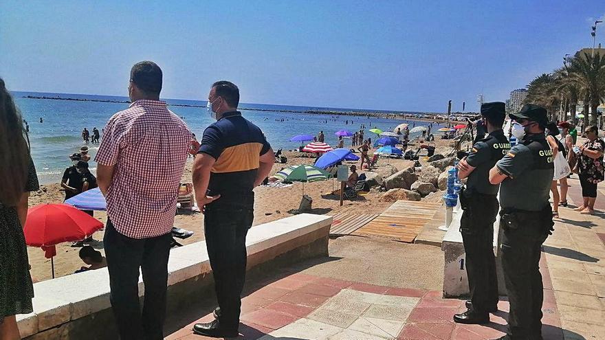 Simulacro de salvamento en El Campello para demostrar la seguridad de las playas