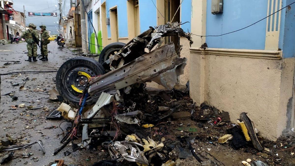 El número de heridos por un coche bomba en Colombia llega a 16