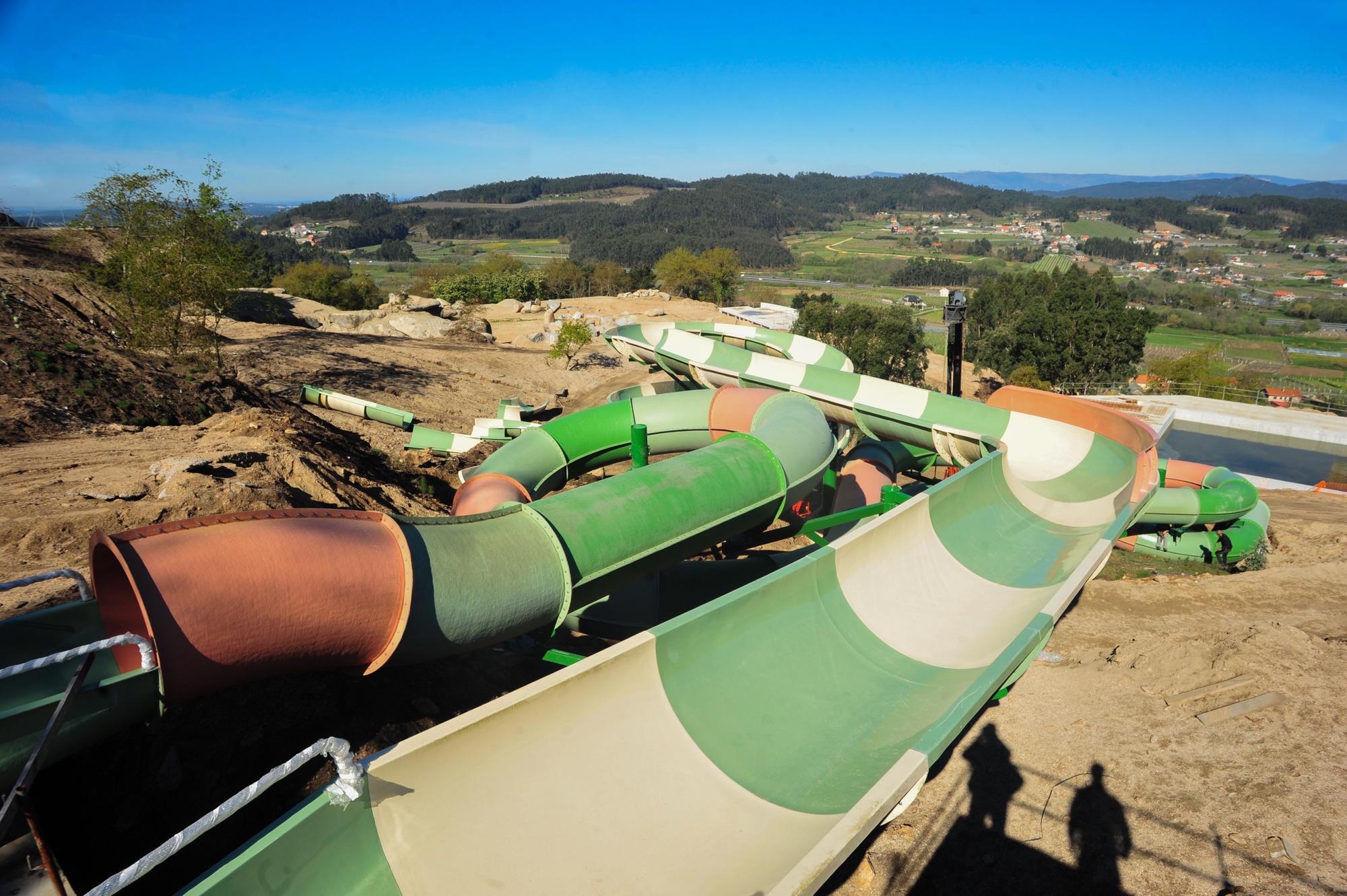 Así avanzan las obras del mayor parque acuático de Galicia