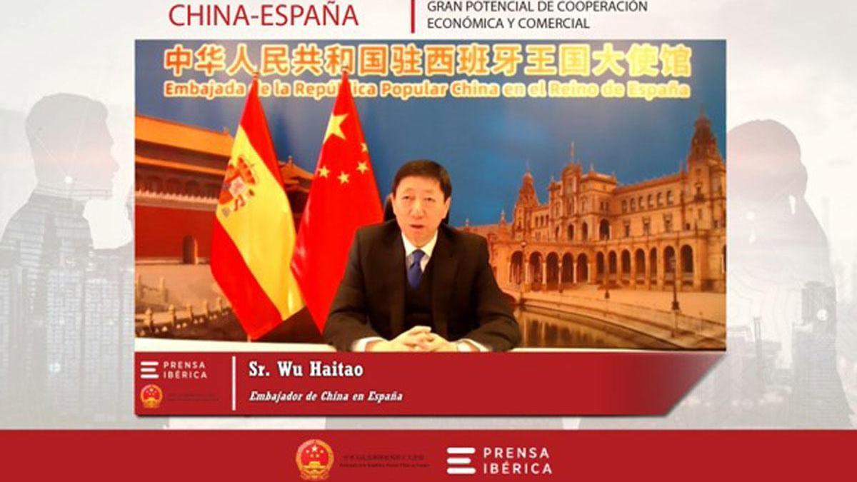 El embajador de China en España, Wu Haitao, en la jornada.