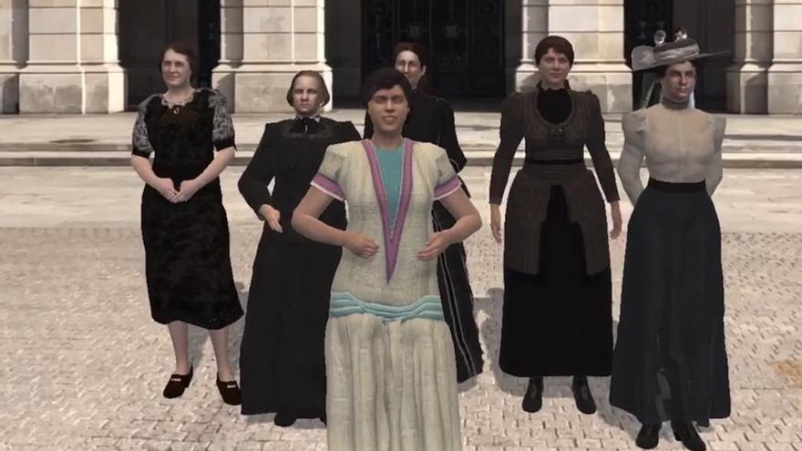 Imagen virtual de la app 'A Coruña en Feminino'