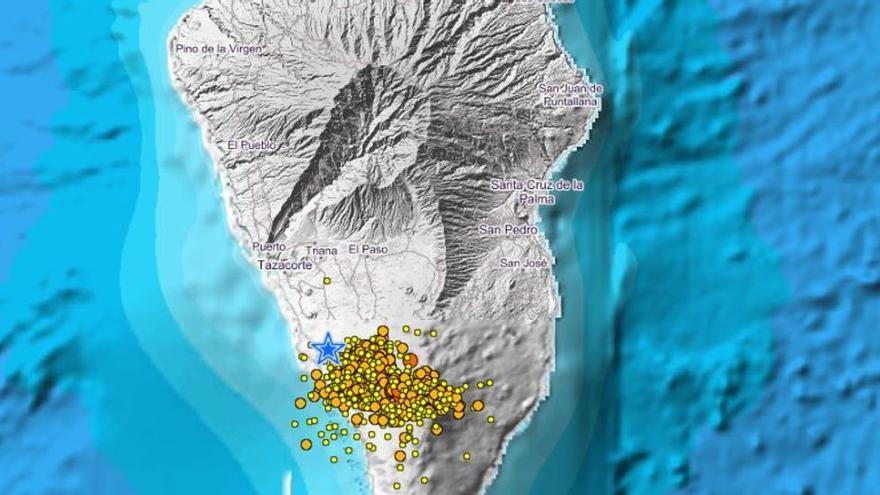La Palma registra hoy miércoles 90 temblores, uno de ellos de magnitud 3,1