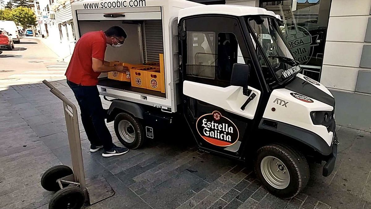 Un vehículo eléctrico para reparto en zonas peatonales, ideado por Passion Motorbike Factory. |   // L.O.