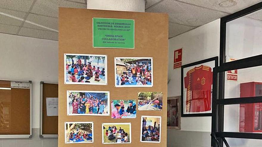 El instituto de Puebla de Sanabria colabora con material escolar con colegios de India