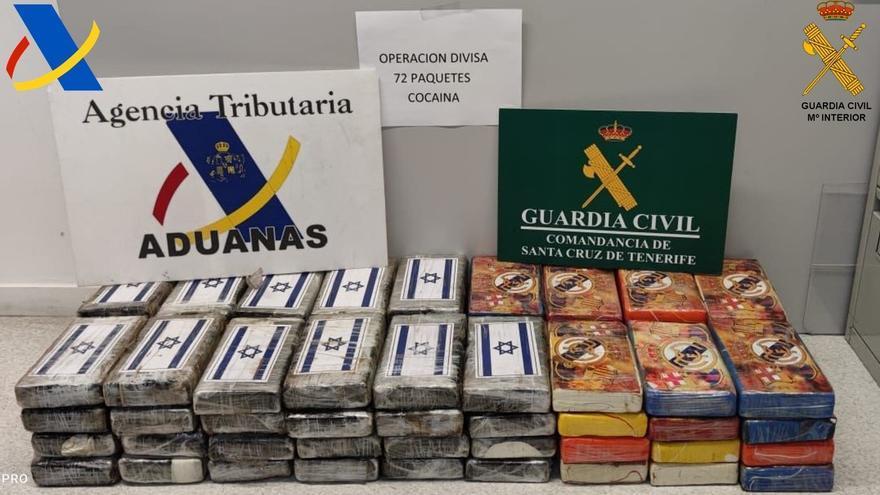 Encuentran 78 kilos de cocaína dentro de un buque en el puerto de Santa Cruz