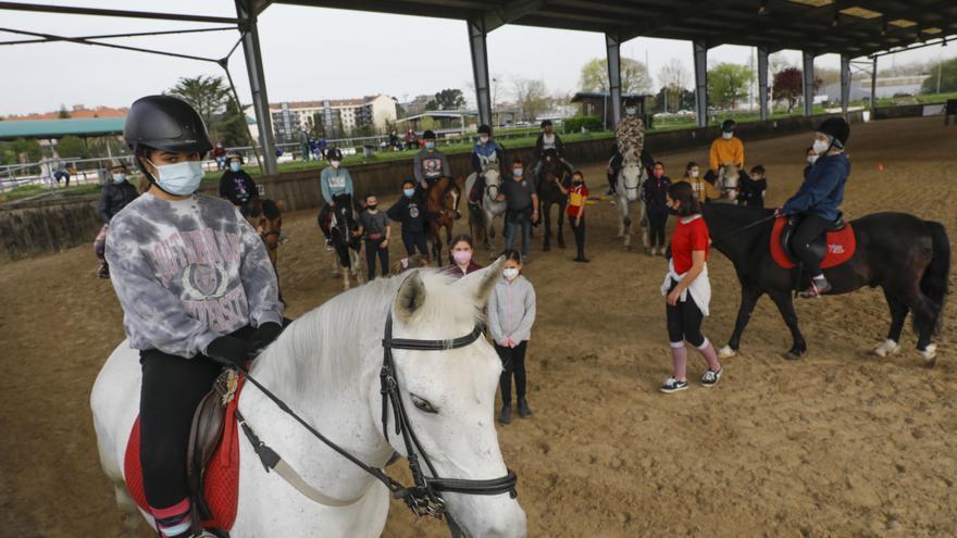 """Centenares de niños participan en los cursos deportivos de Semana Santa: """"Son divertidos"""""""