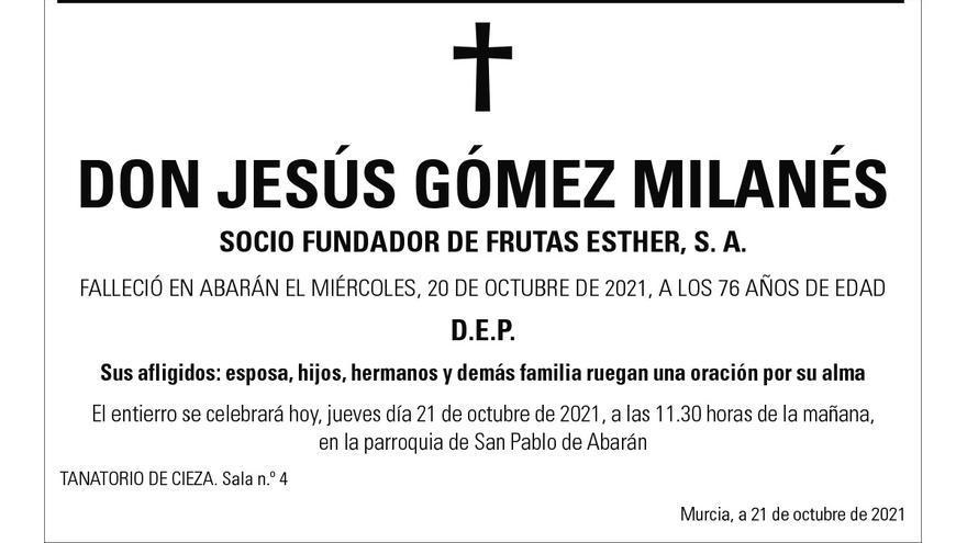 D. Jesús Gómez Milanés