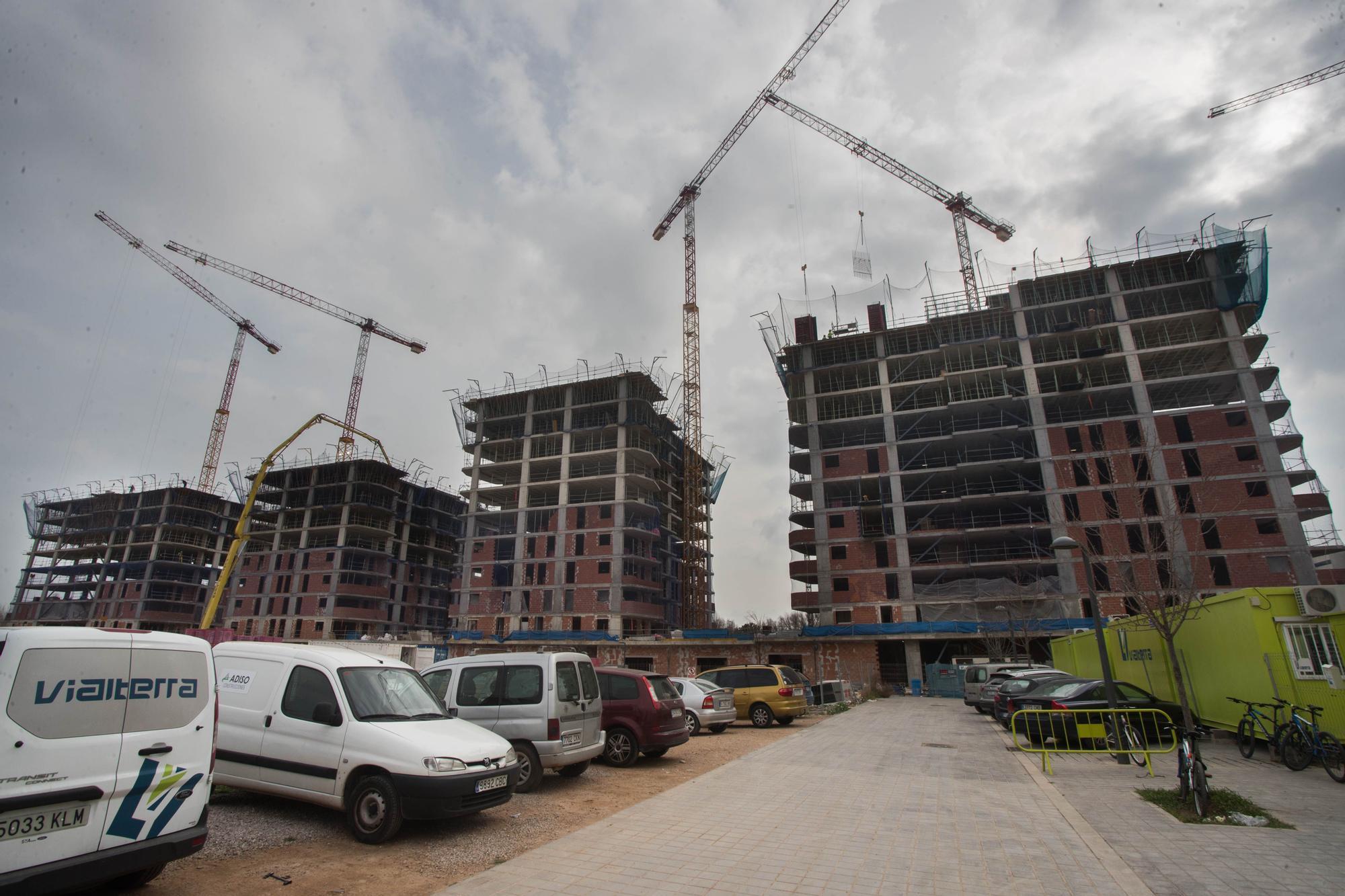 Pisos en Valencia: así avanzan las obras del nuevo barrio de la ciudad