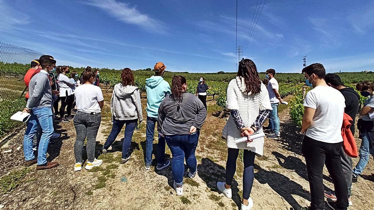 La ingeniera agrónoma Ángela Portero se dirige a un grupo de voluntarios ambientales de la Fundación Social Universal.