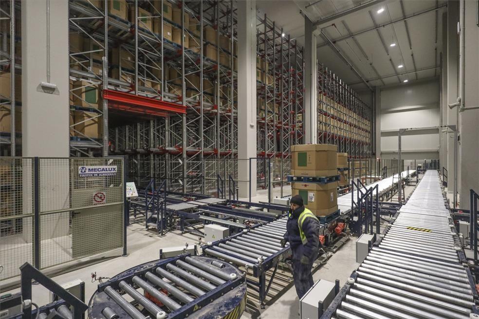 Almacén de Monliz en la plataforma logística