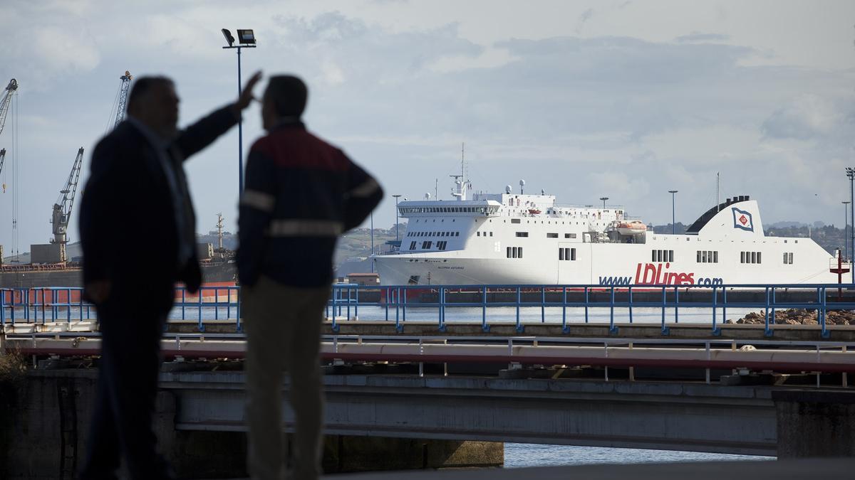 Barco de la autopista del mar que cubrió la ruta entre Gijón y Nantes.