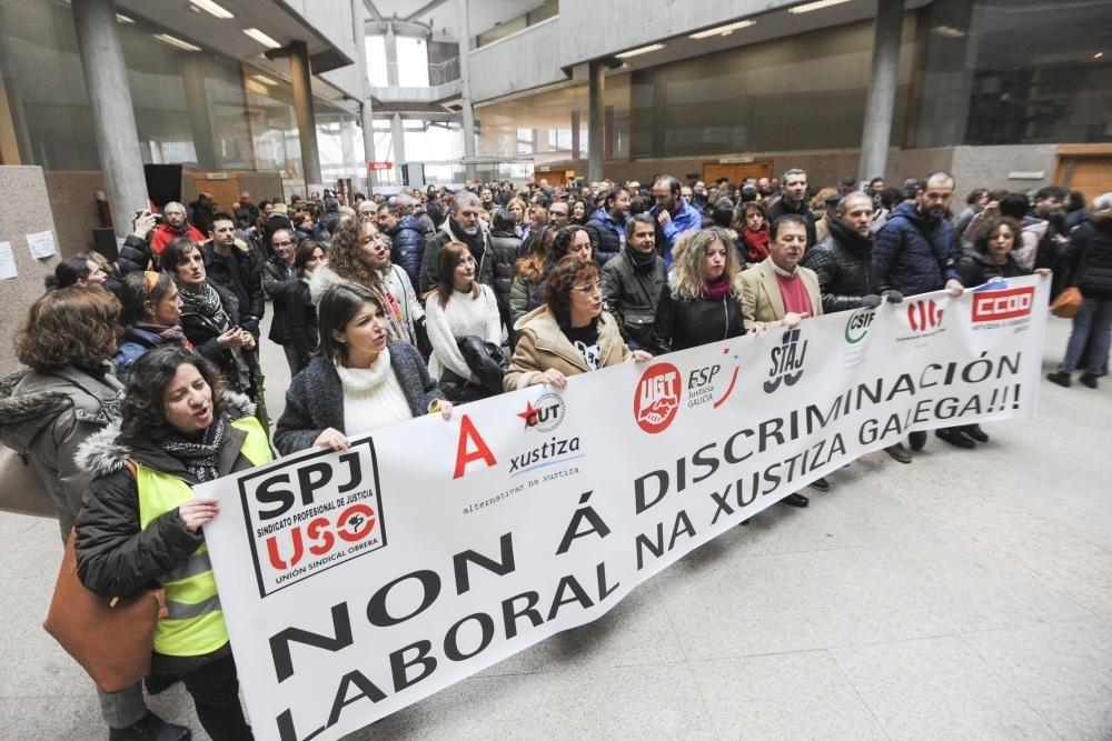 Huelga en los juzgados de A Coruña