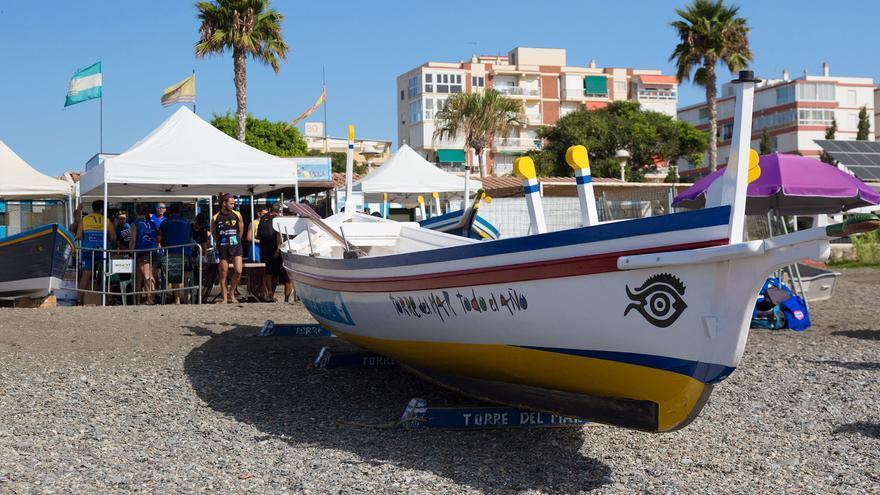 Las jábegas retoman este domingo la competición en las aguas de Torre del Mar