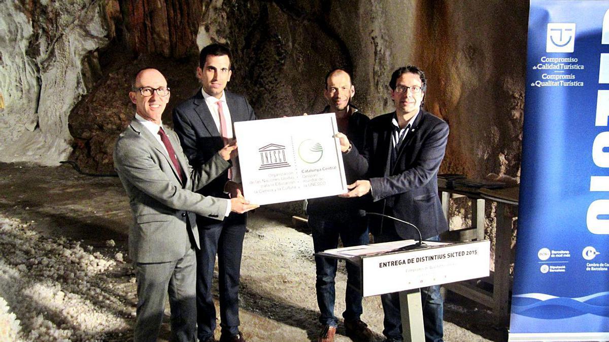 Acte de l'abril del 2016 en què, formalment, es va fer lliurament del diploma de la Unesco | ARXIU