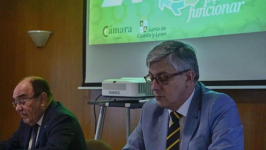 Enrique Oliveira y Javier Díaz, ayer.
