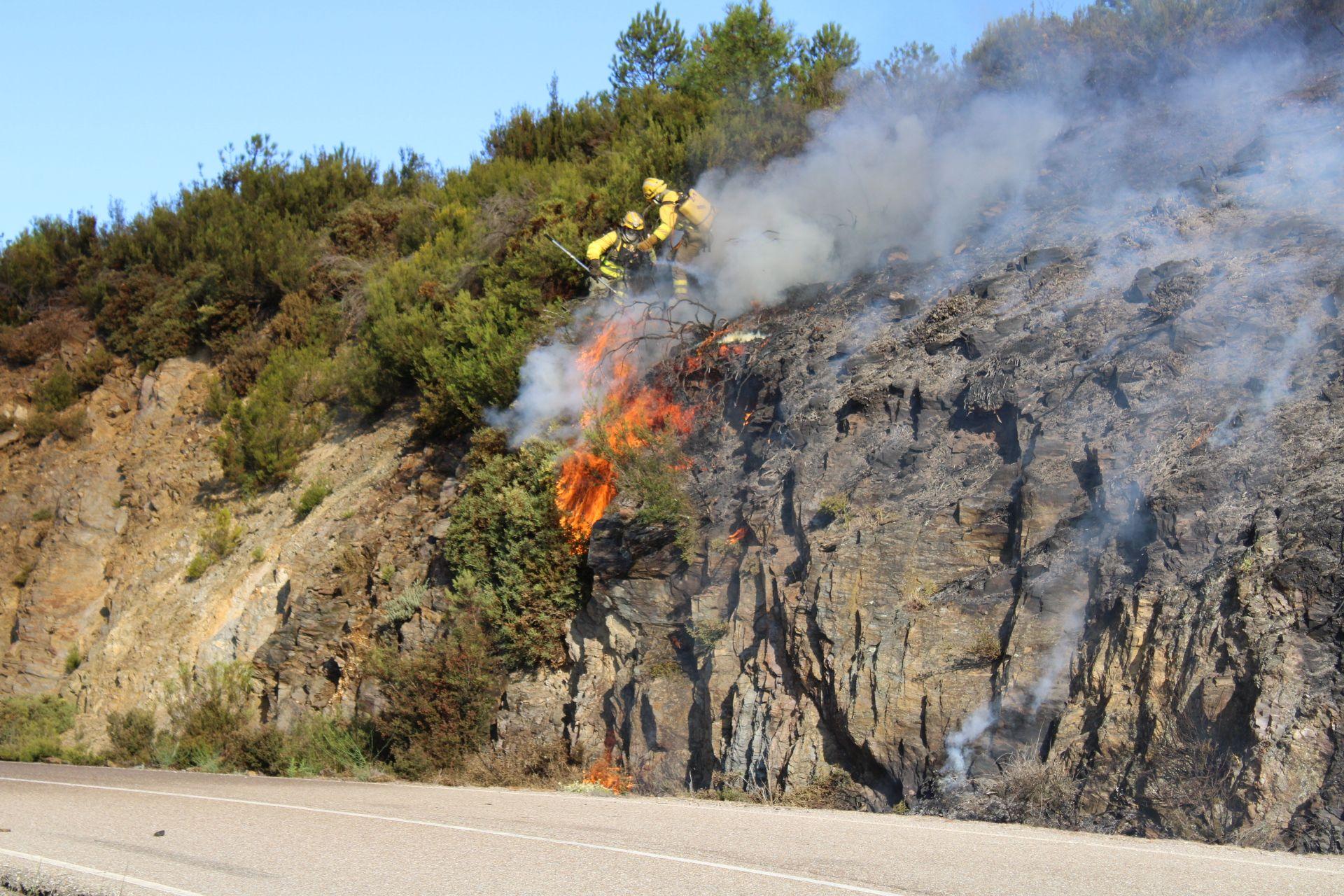 Incendio en Pedralba.