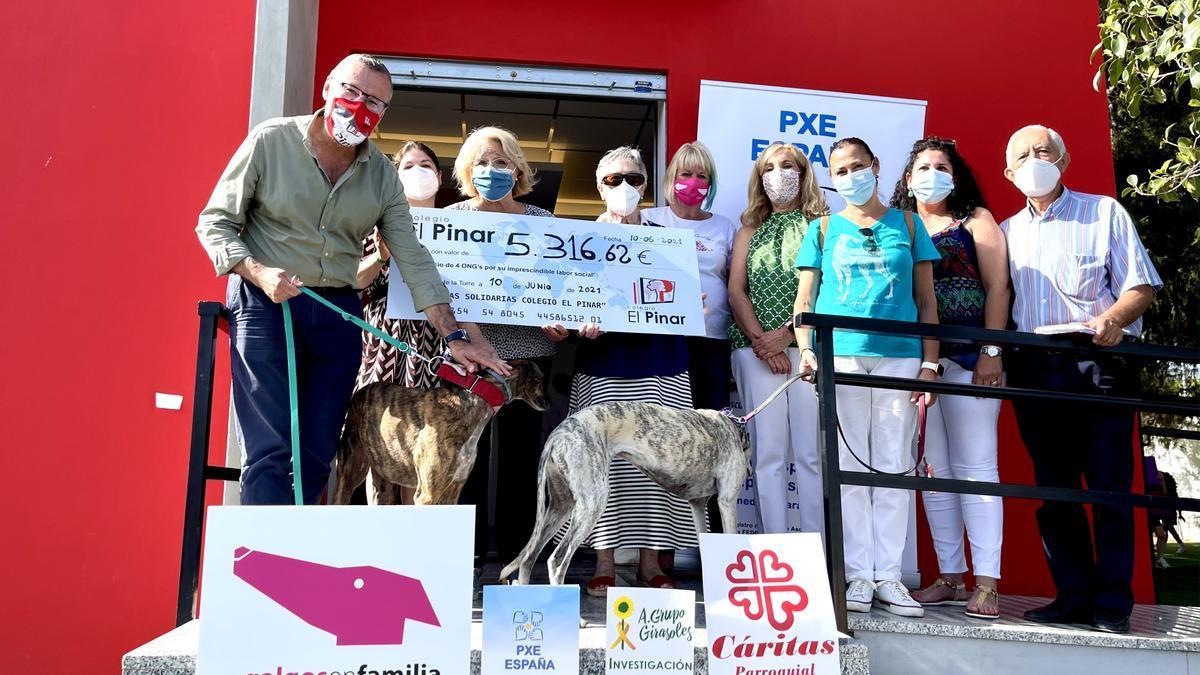 Entrega de la recaudación de las Jornadas Solidarias del Colegio El Pinar.
