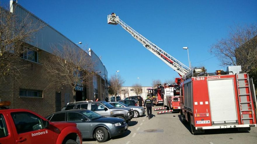Un ferit en un incendi en un restaurant de Santpedor