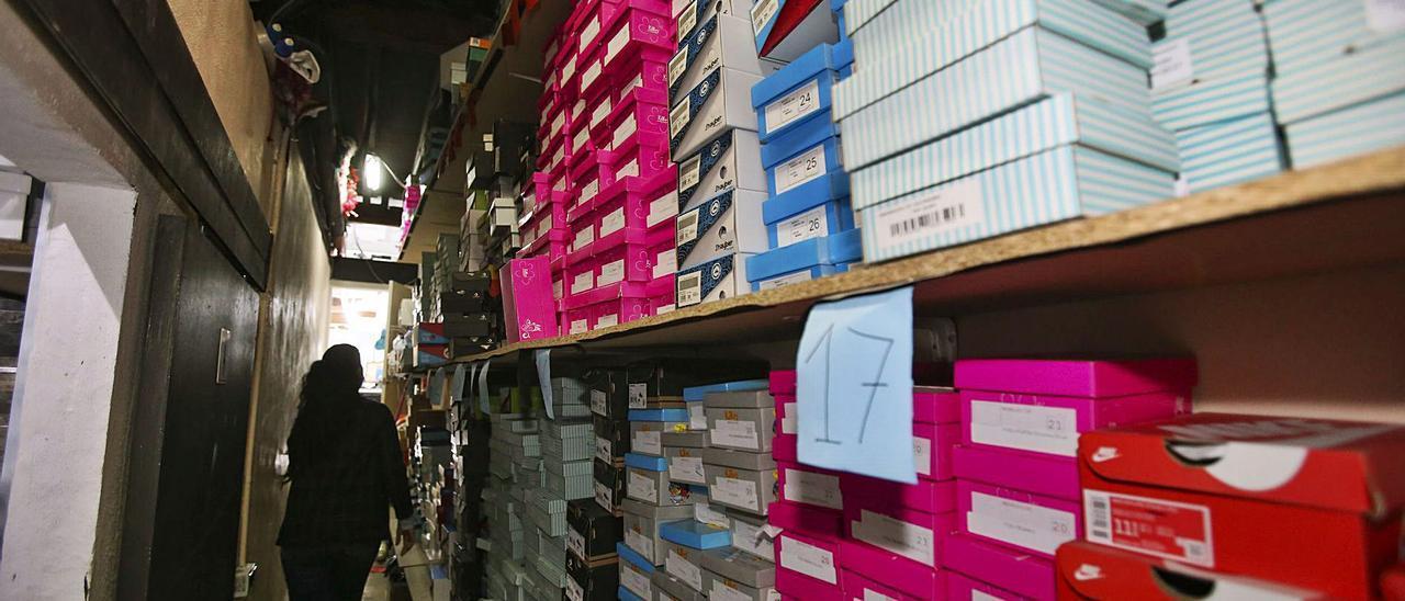 El almacén de una tienda de calzado en la ciudad de Alicante, en una imagen reciente