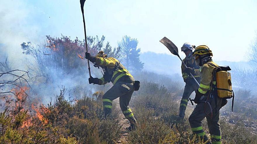 El incendio de Robledo de Sanabria movilizó un gran contingente de extinción