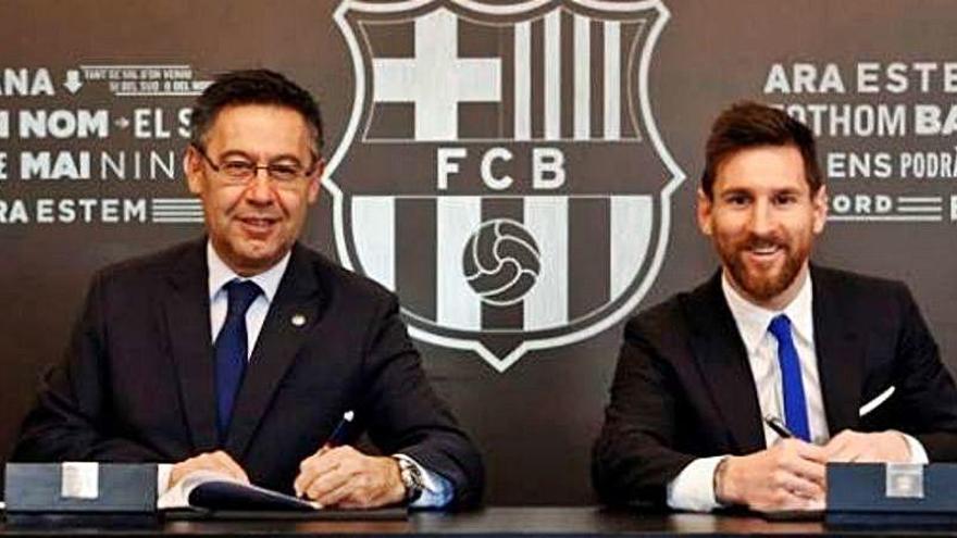 Bartomeu acepta dimitir si Messi lo pide públicamente