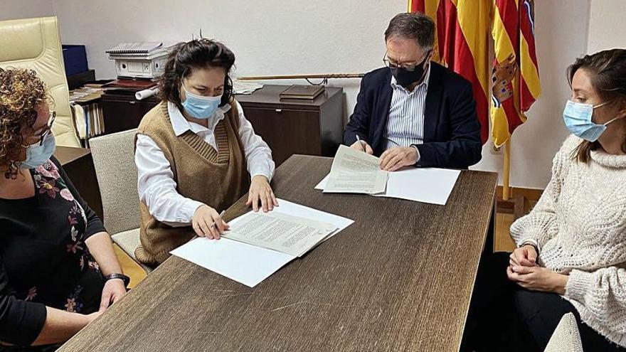 Sant Josep renueva sus convenios con Apneef, Amadiba y el CNI