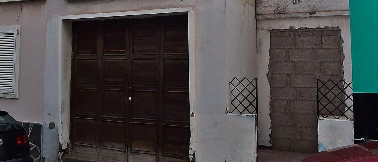 Casa terrera de la calle Agustina de Aragón donde ocurrieron los hechos.