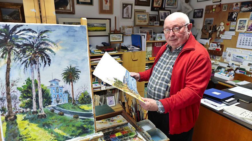"""El gijonés que ha pintado todos los """"Pueblos ejemplares"""" de Asturias"""