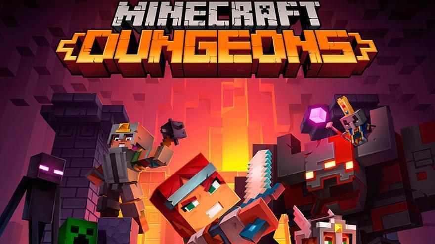 El juego cruzado llega a Minecraft Dungeons, que lo celebra con un nuevo tráiler
