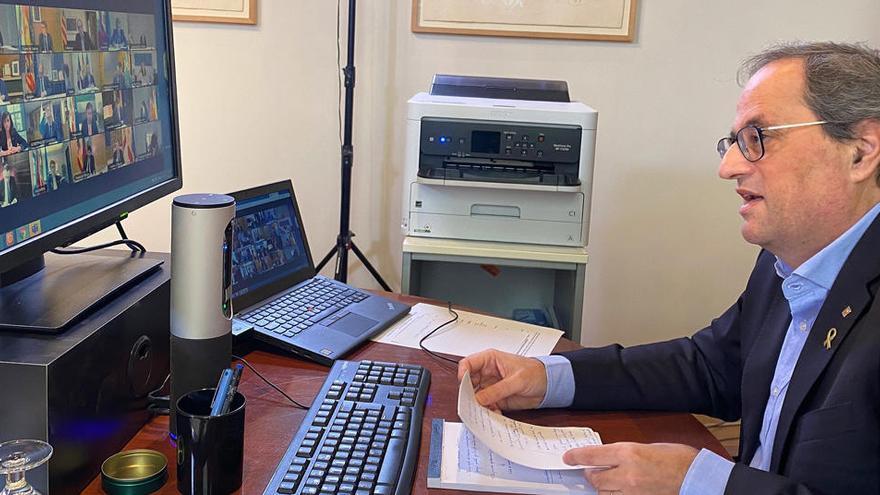 Torra pide al Gobierno alargar el confinamiento total