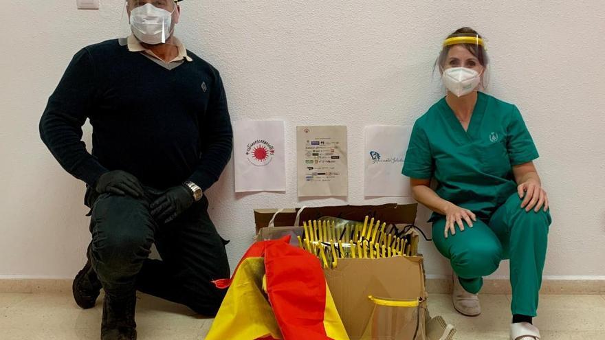 Donan 600 mascarillas y pantallas para el personal de la cárcel de Villena