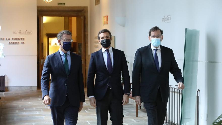 Arranca en Santiago la convención del PP con Rajoy y Feijóo escoltando a Casado