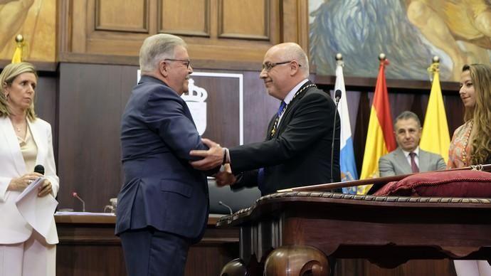 Toma de posesión de Morales como presidente del Cabildo de Gran Canaria