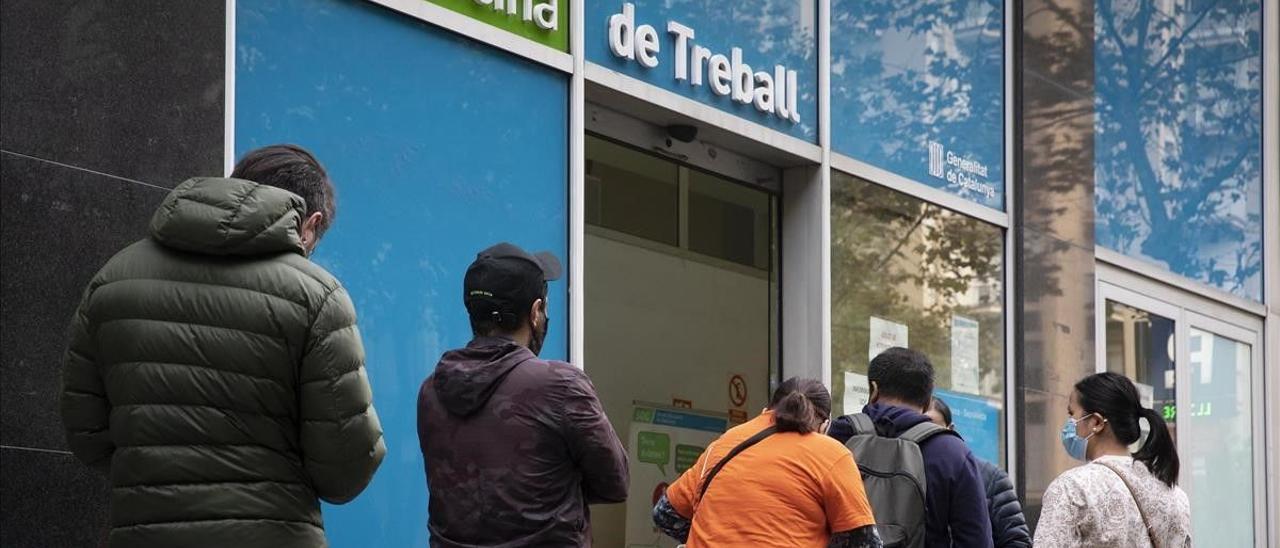 Una oficina de empleo de Barcelona.