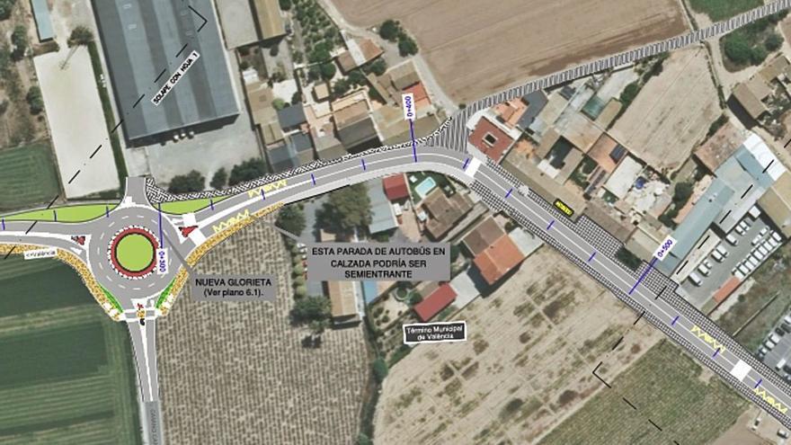 La Diputació reformulará el plan para pacificar el tráfico en el Camí de Moncada