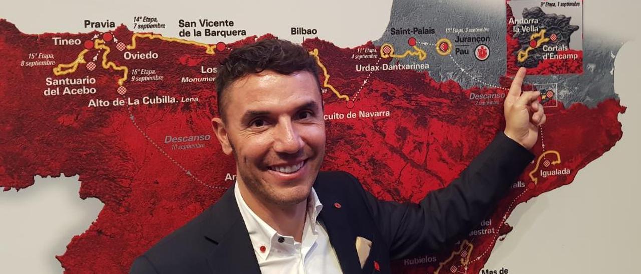 Joaquim Rodríguez, en la presentación de la Vuelta.