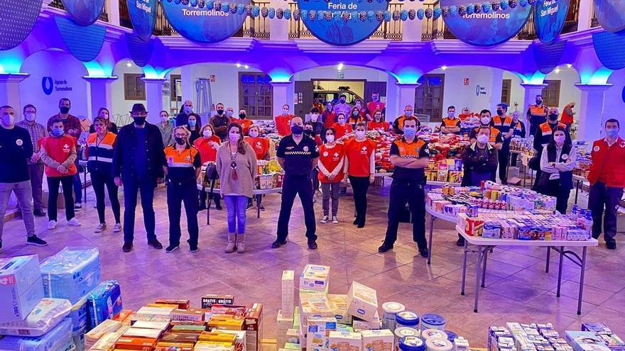 La campaña de Navidad de Torremolinos logra reunir 15.000 kilos de alimentos
